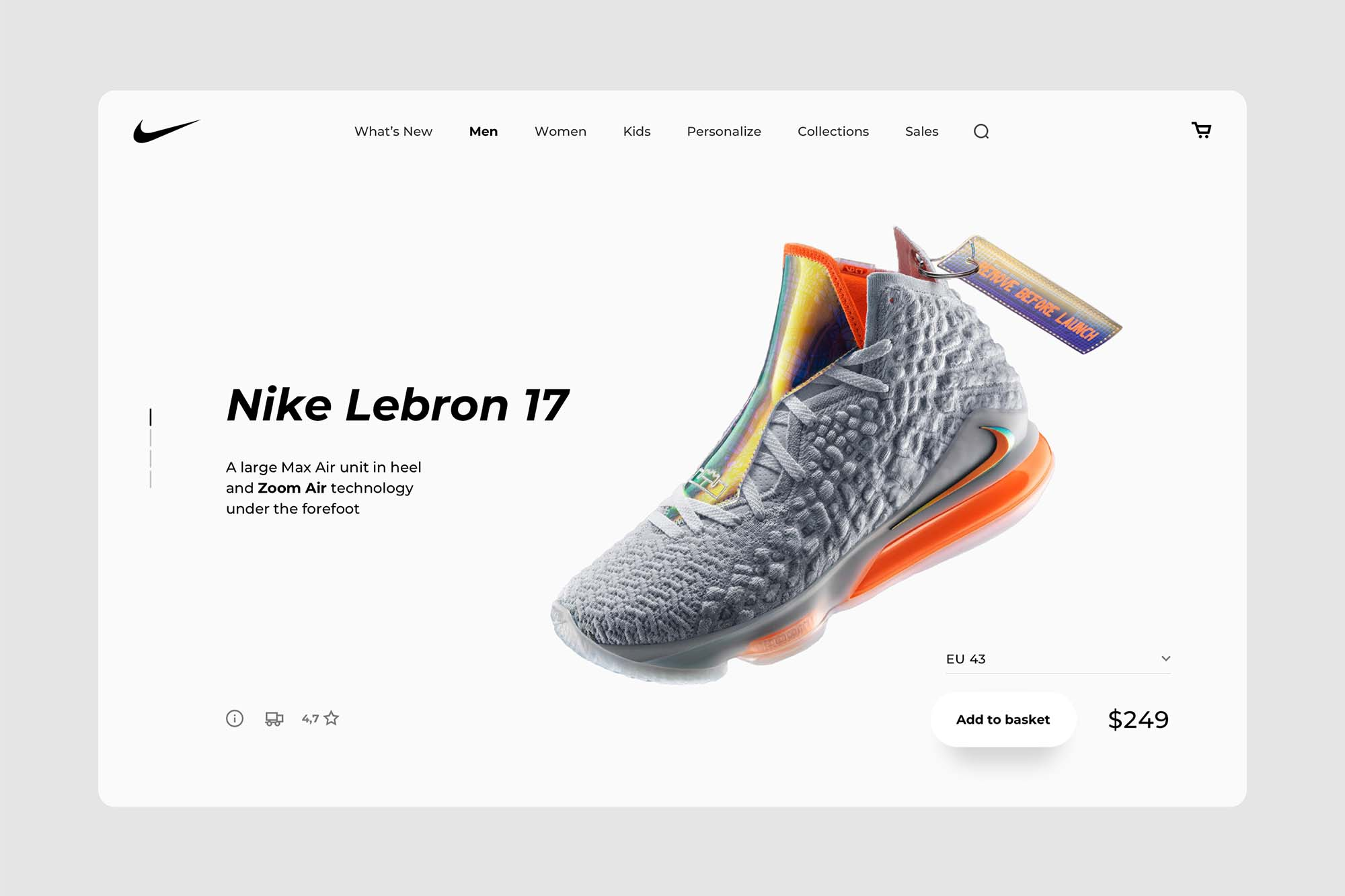 eCommerce Desktop Product Page Template 2