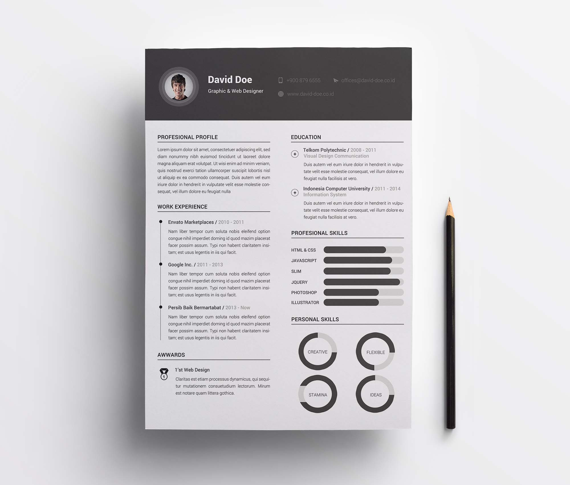 2 Column Resume Template 2