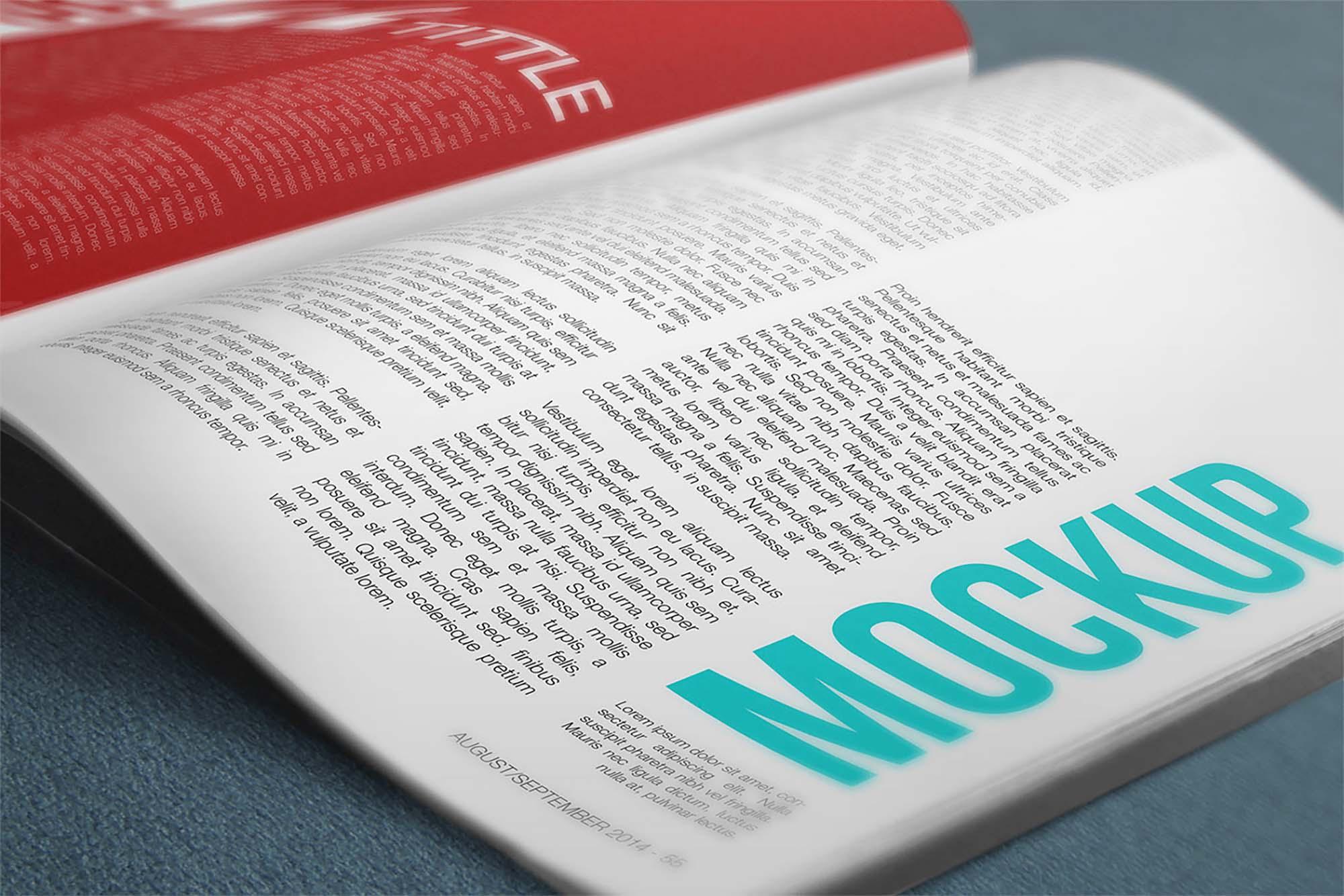 4K Magazine Mockup 2