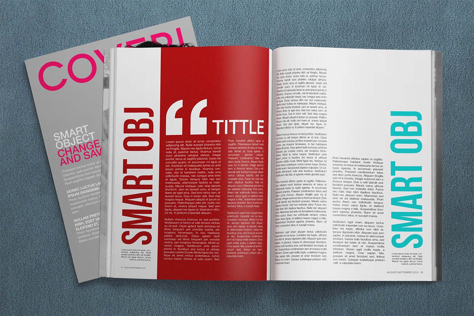 4K Magazine Mockup 5