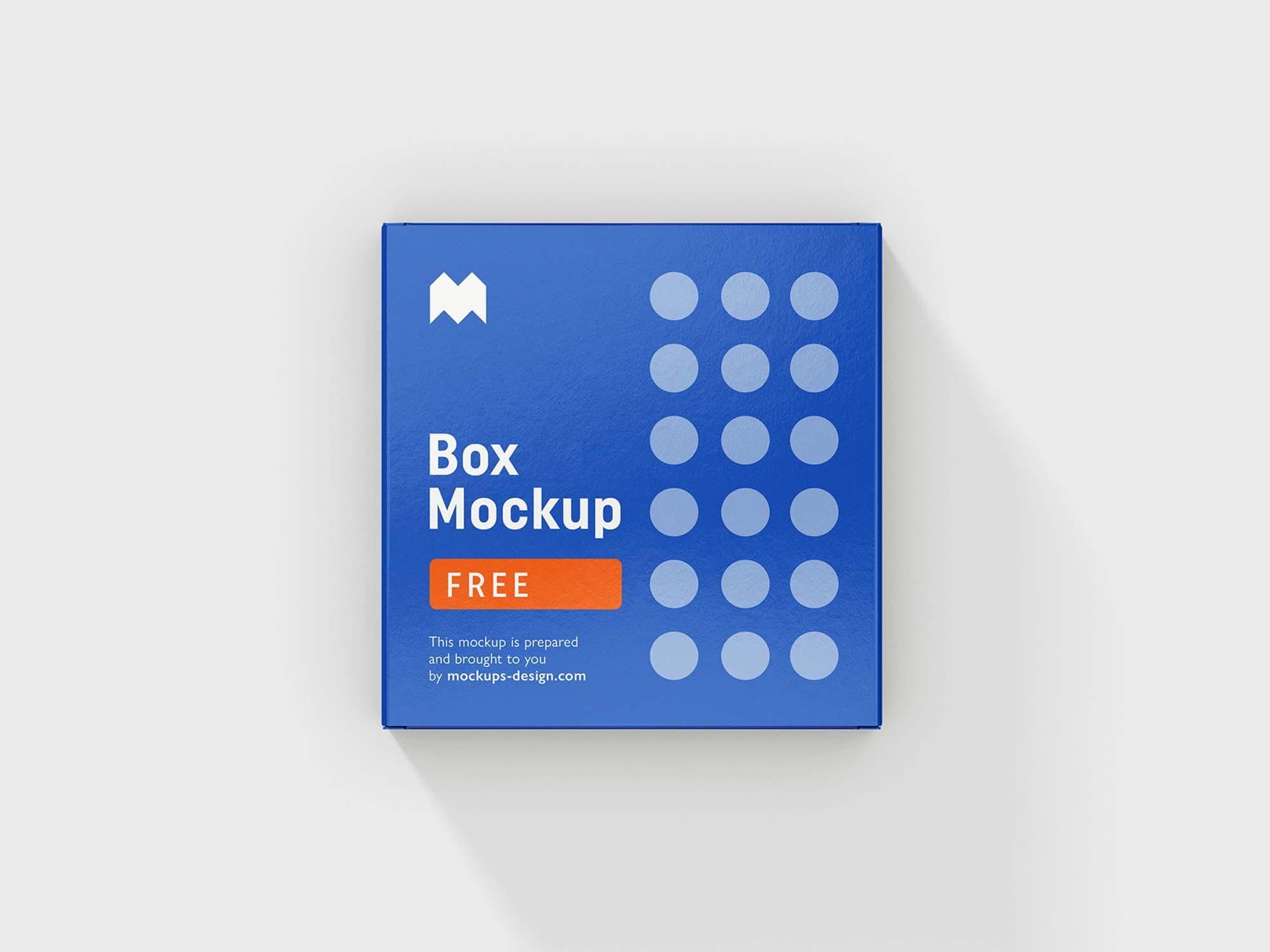 6 Angles Box Mockup 3