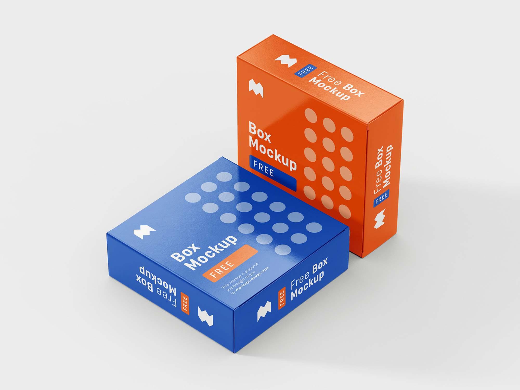 6 Angles Box Mockup 4