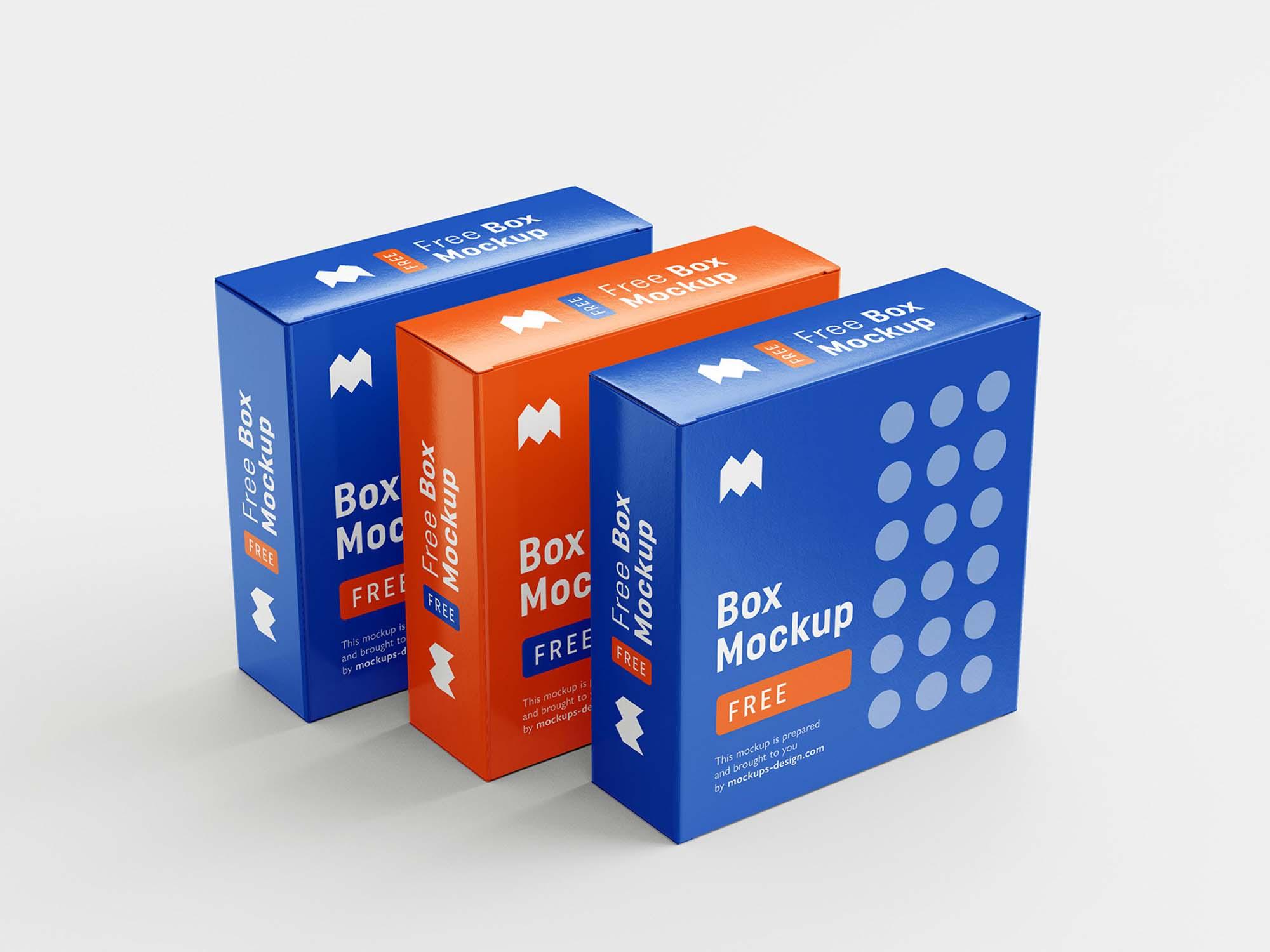 6 Angles Box Mockup 5