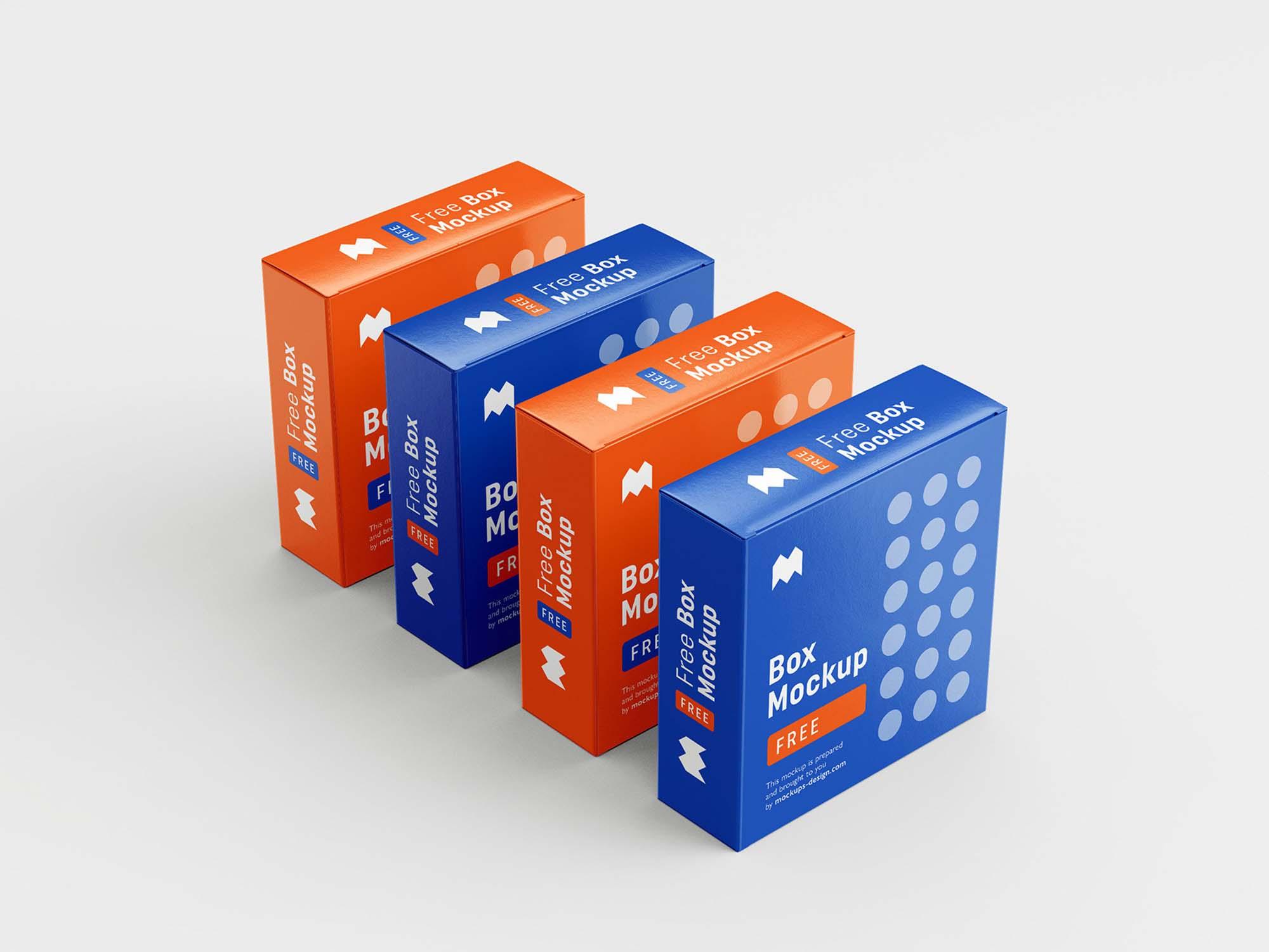 6 Angles Box Mockup 1