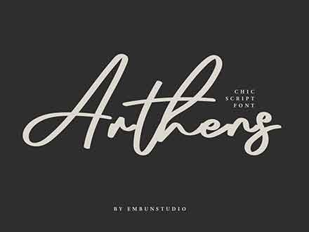 Arthens Luxury Font