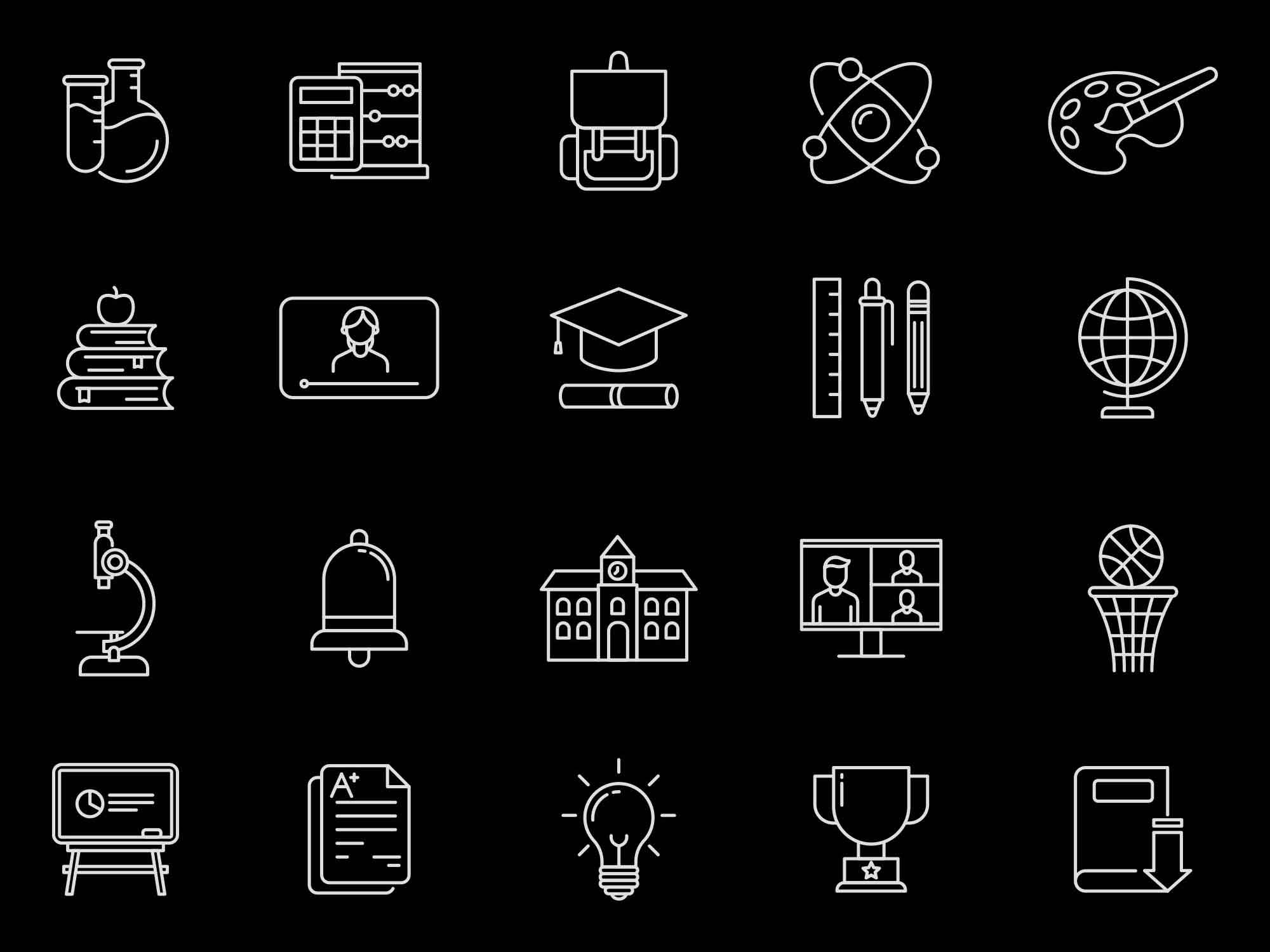 Back to School Vector Icons 2