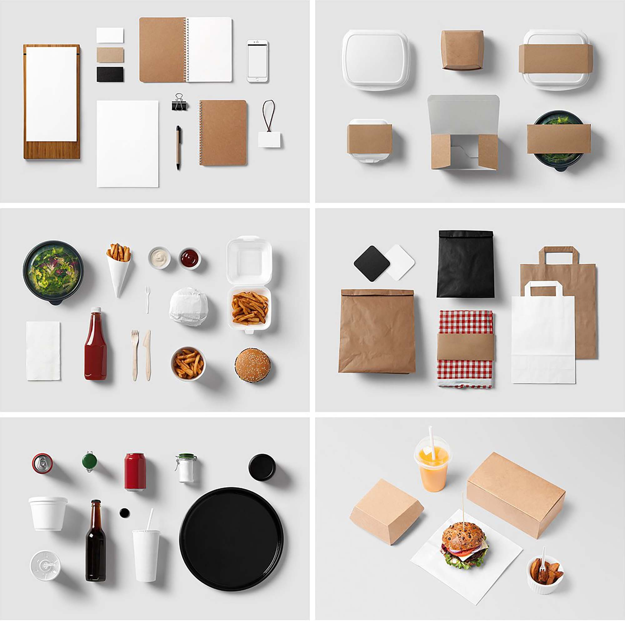 Burger Bar Stationery Mockup 2