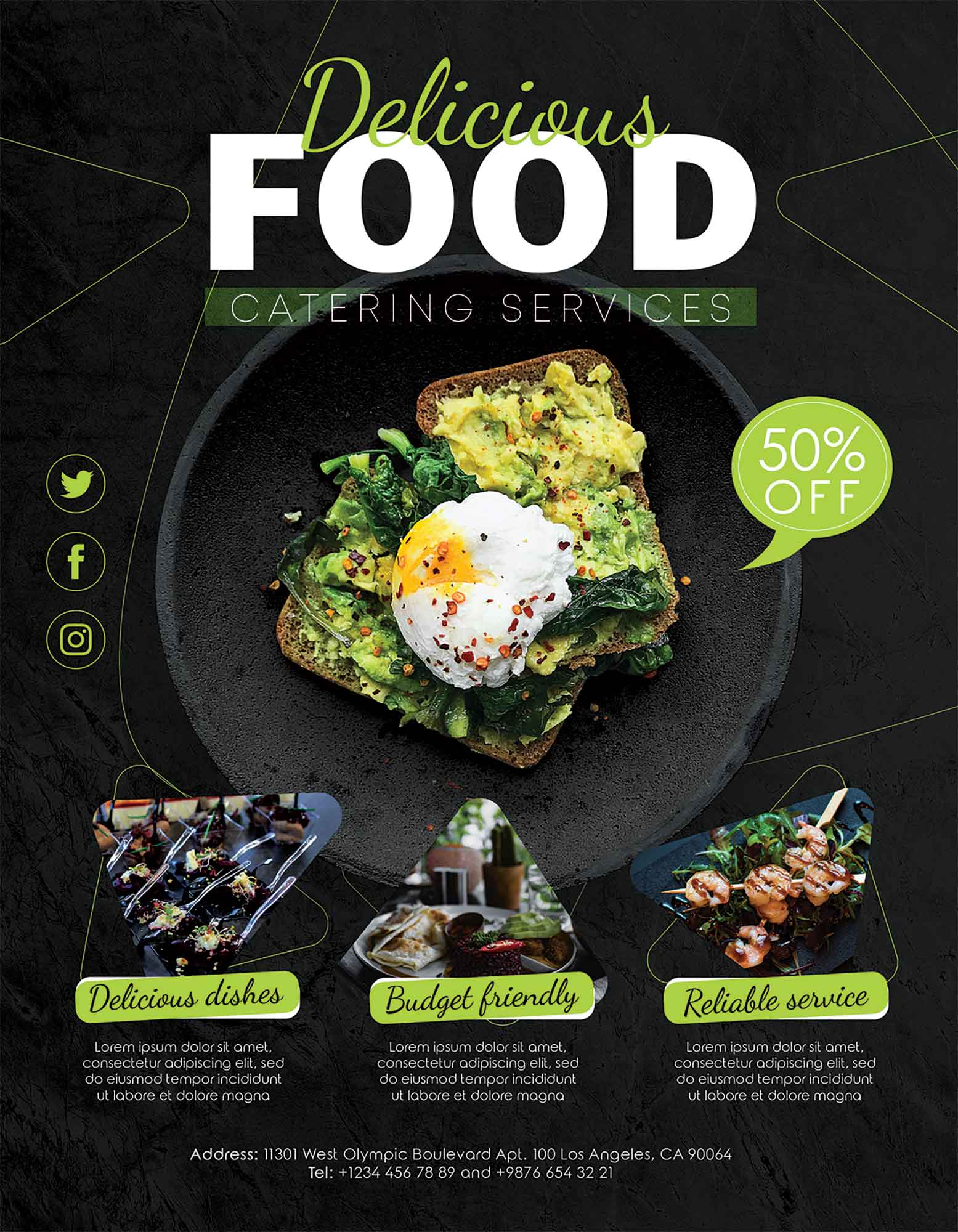 Catering Service Flyer Template 2