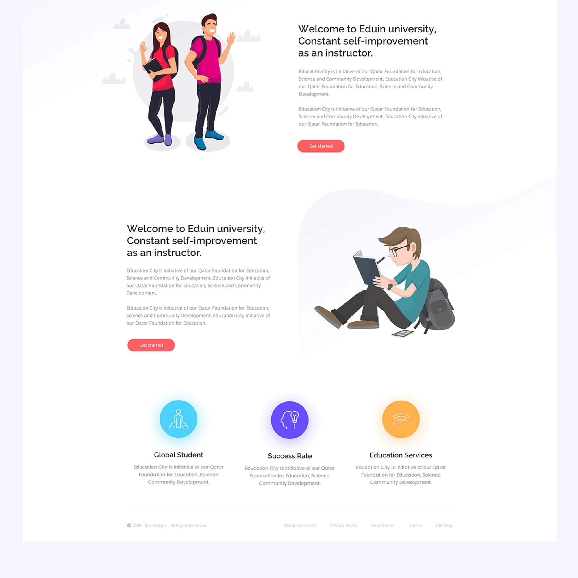Drop Education Website Template 4