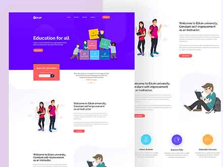 Drop Education Website Template