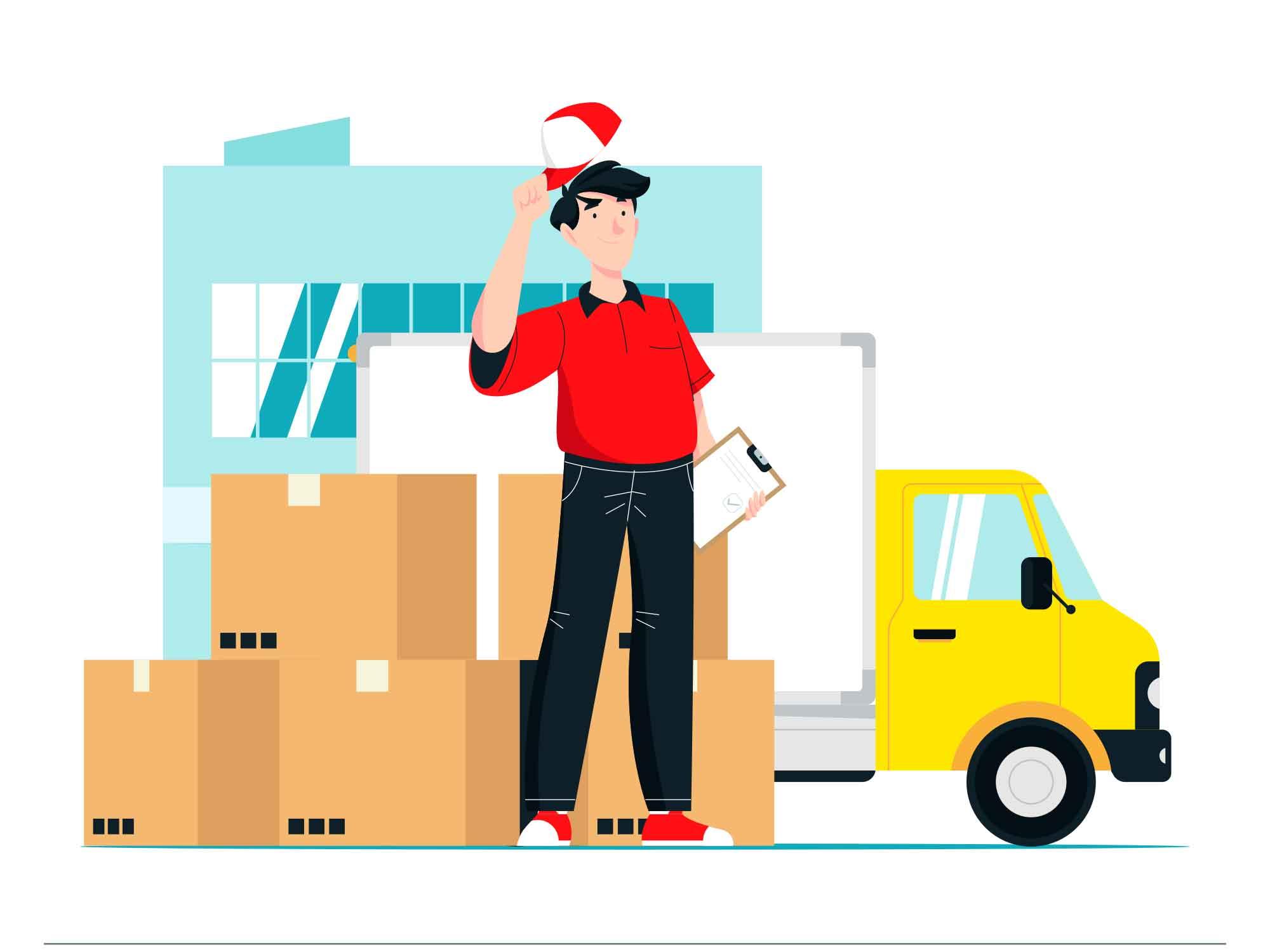 Fast Shipping Illustration