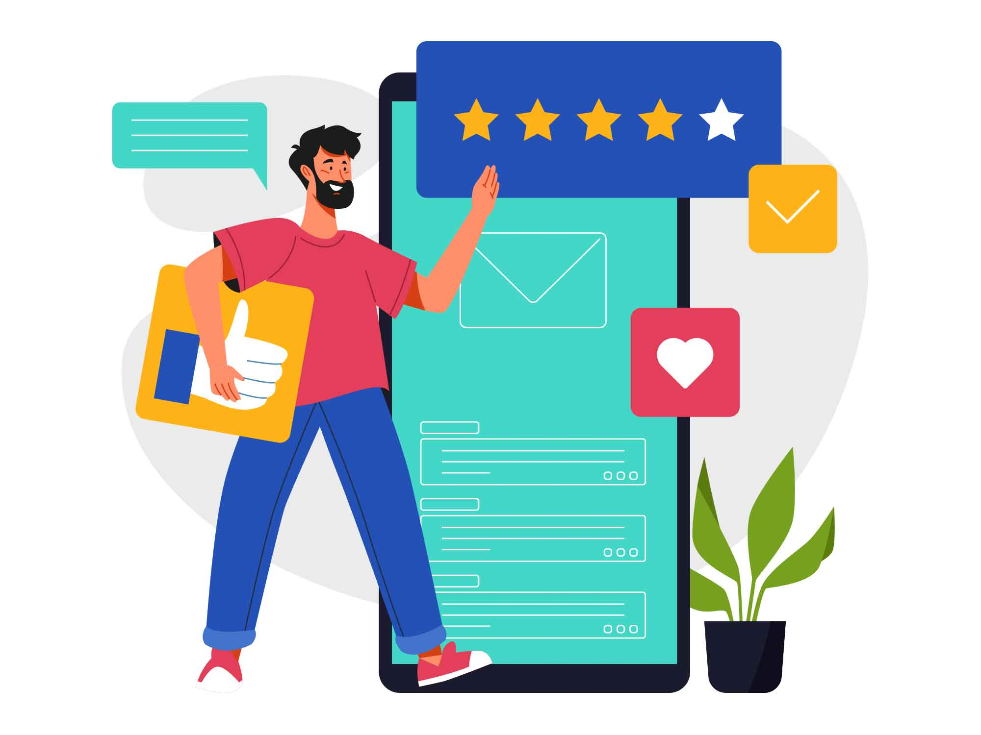 Feedback Vector Illustration