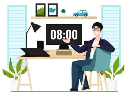 Graphic Design Workstation Illustration