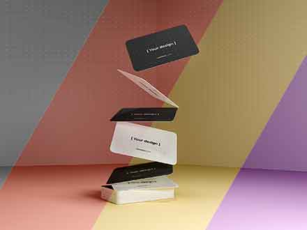 Gravity Business Cards Mockup