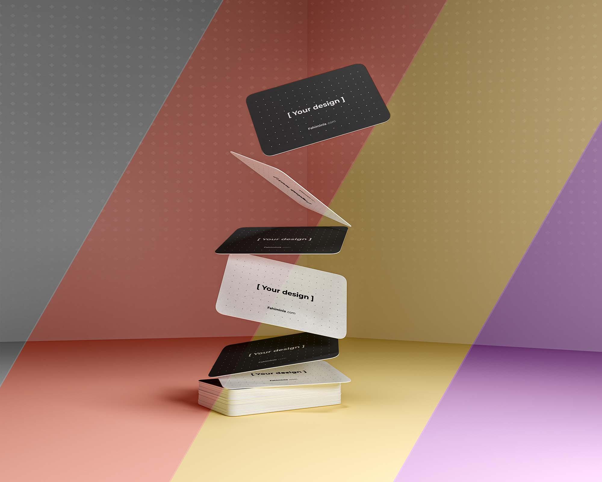 Gravity Business Cards Mockup