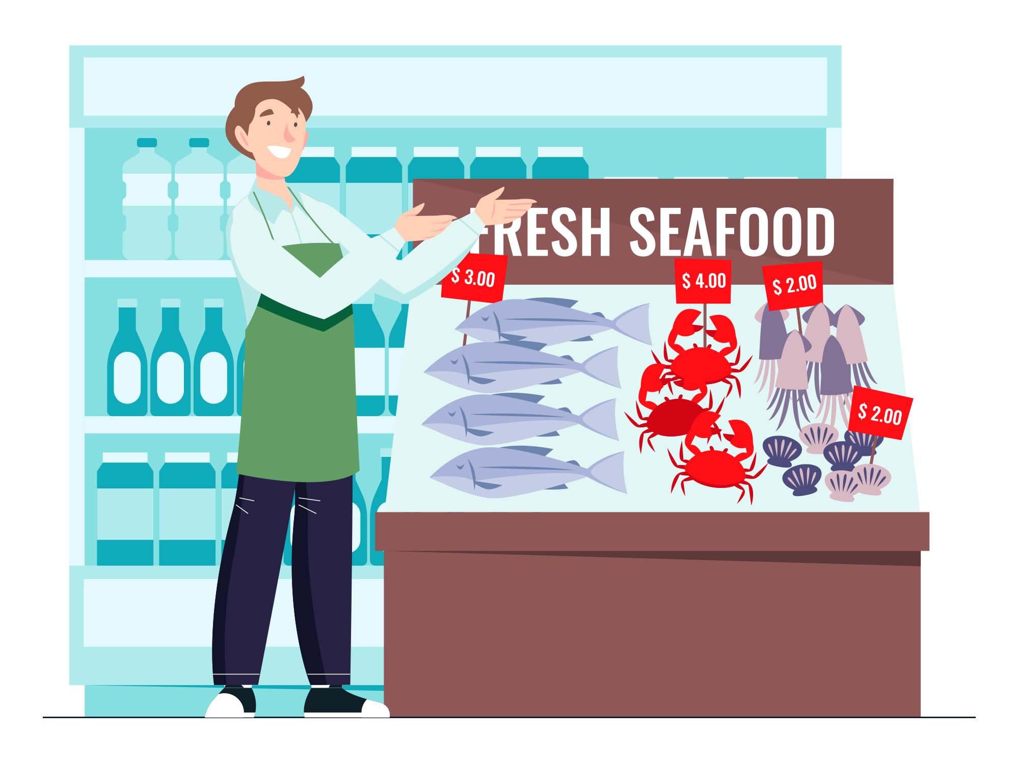 Grocery Offer Vector Illustration