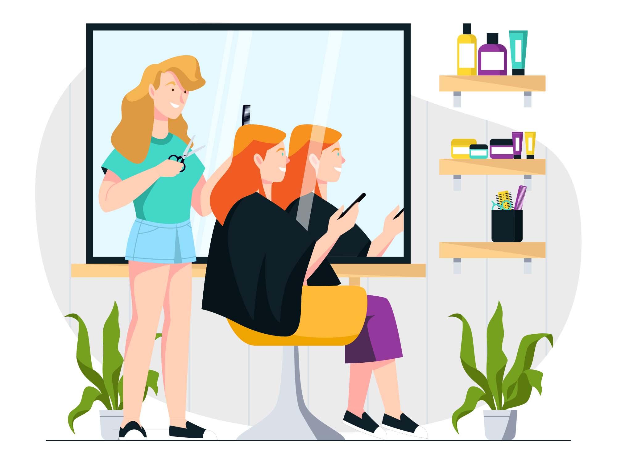 Hair Salon Vector Illustration