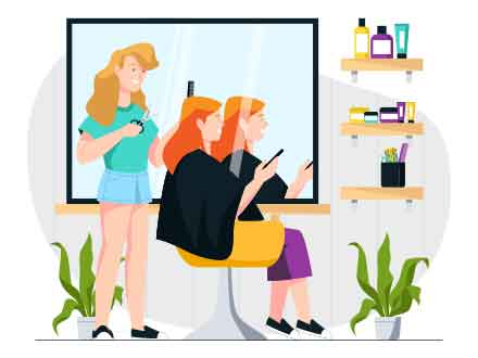 Hair Salon Vector Illustration