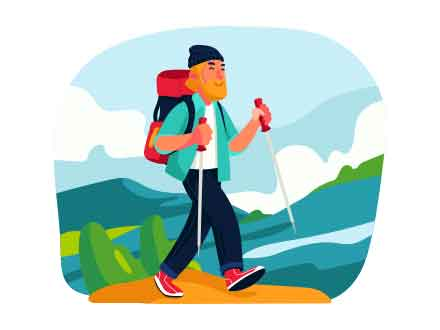 Hiking Vector Illustration
