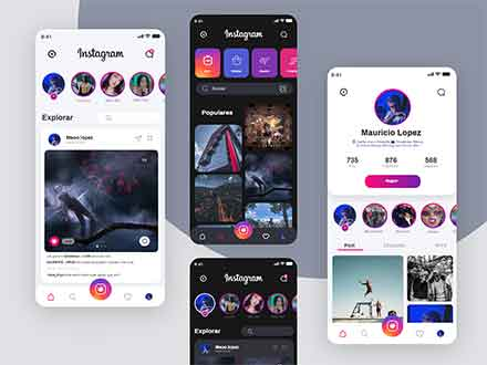 Instagram Redesign UI Template