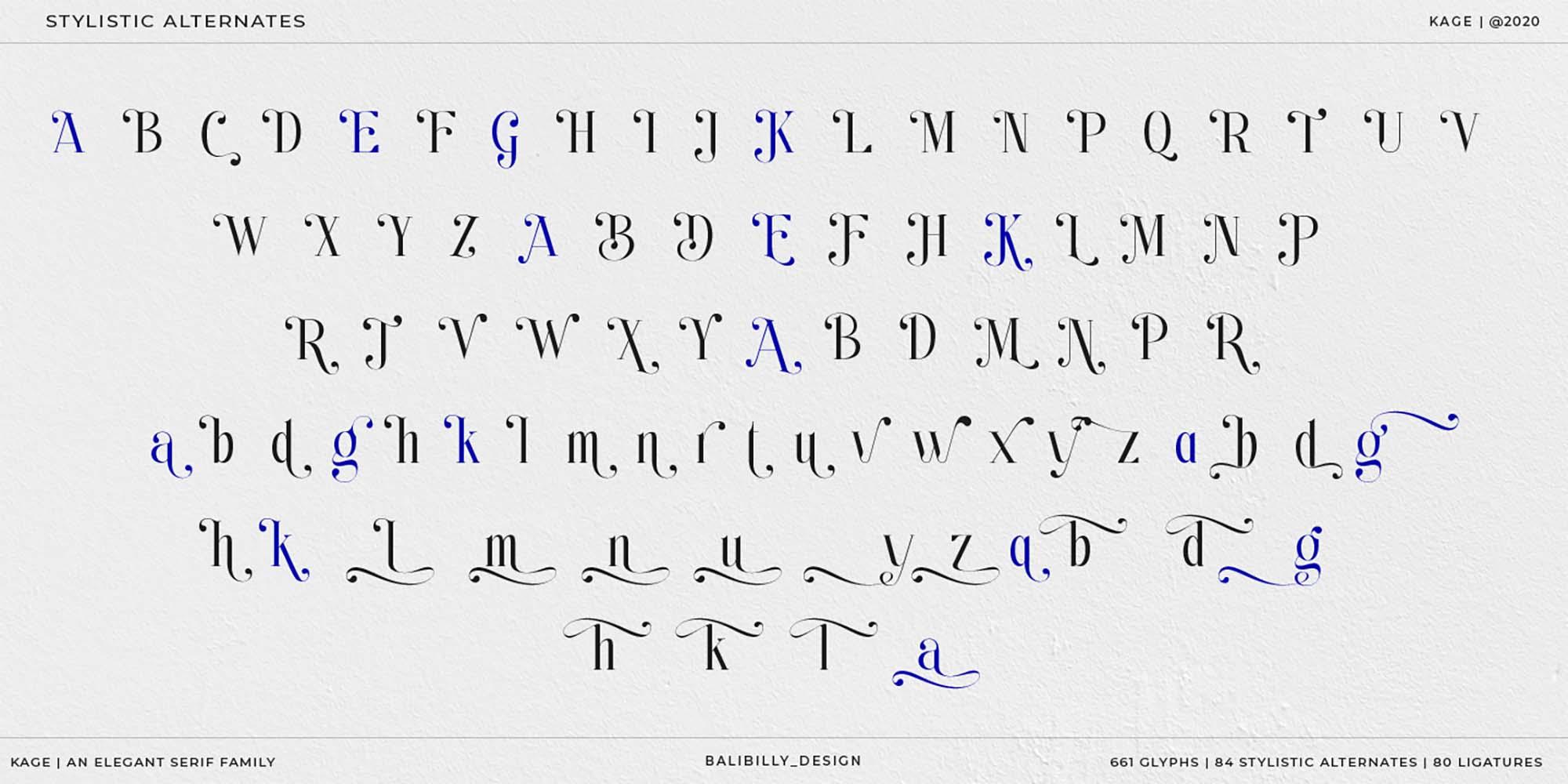 Kage Serif Font 11