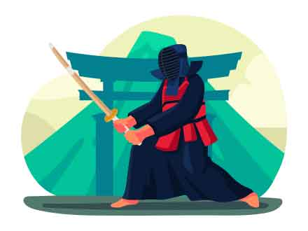 Kendo Vector Illustration