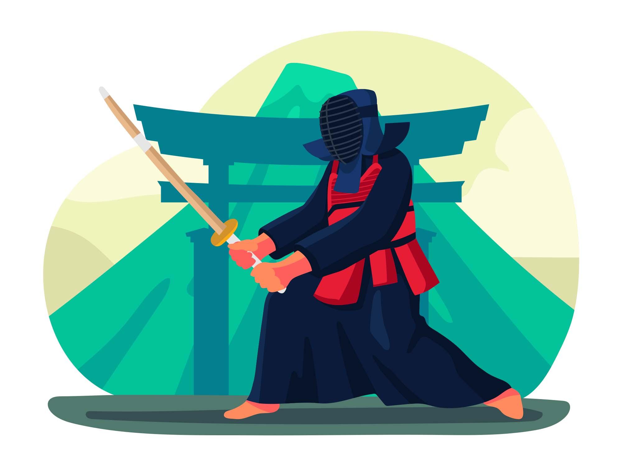 Kendo Vector Illustration