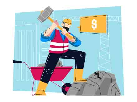Labourer Vector Illustration