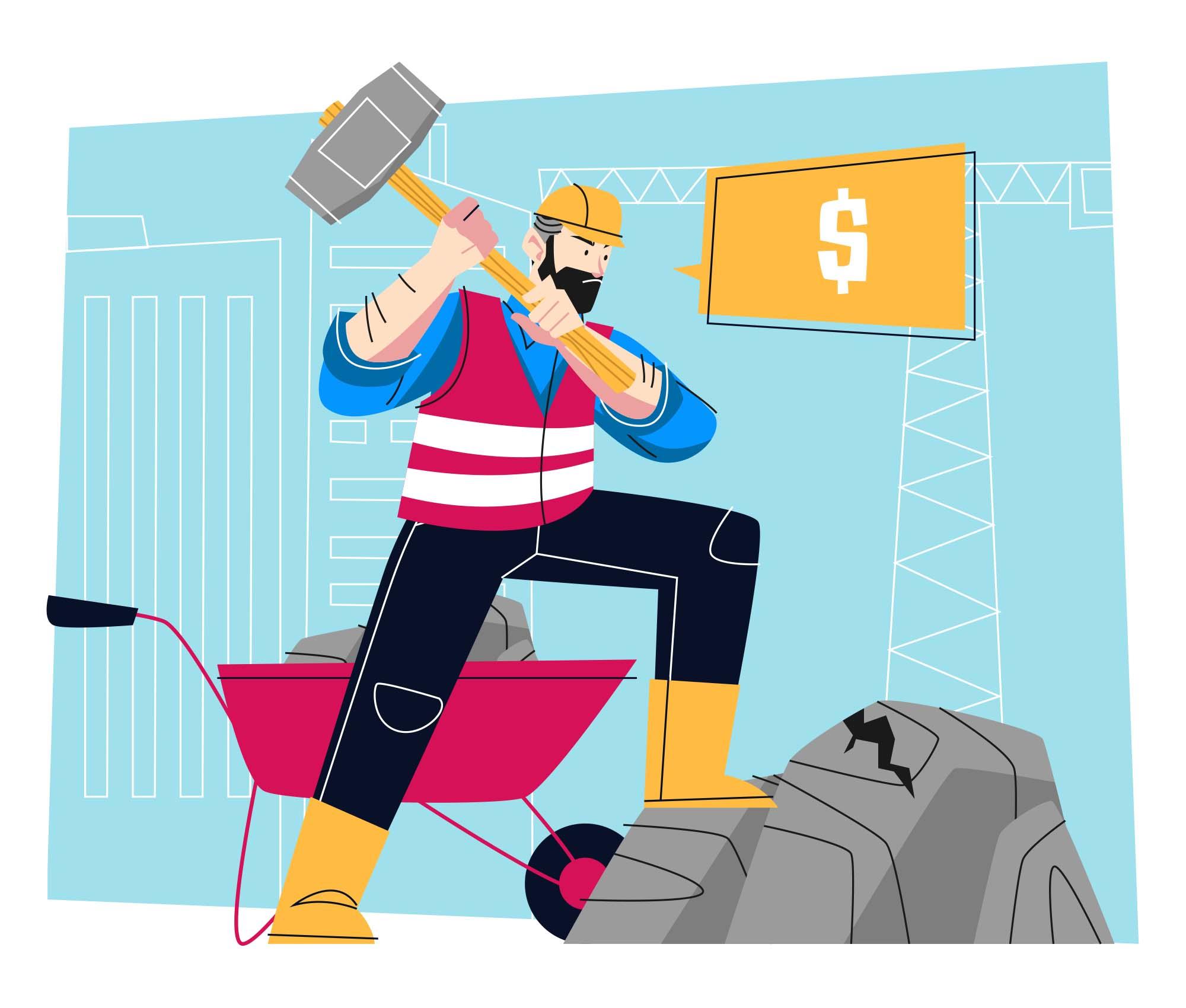 Labourer Vector Illustration