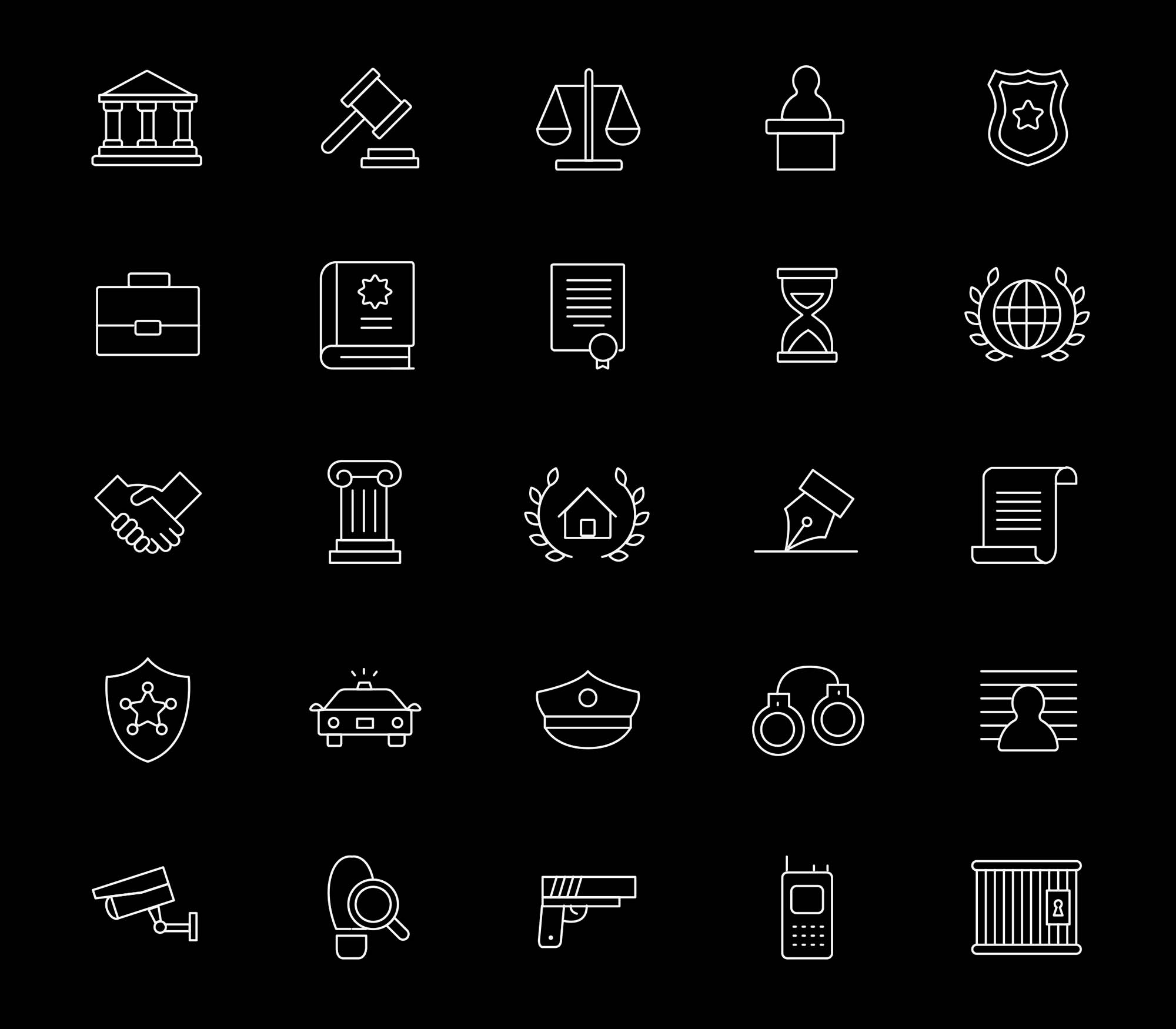 Law and Justice Icons 2