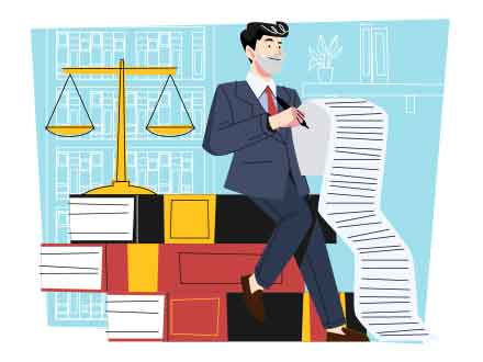 Lawyer Vector Illustration