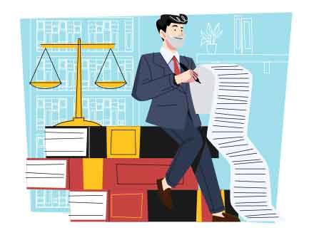 Lawyer Vector Illustration