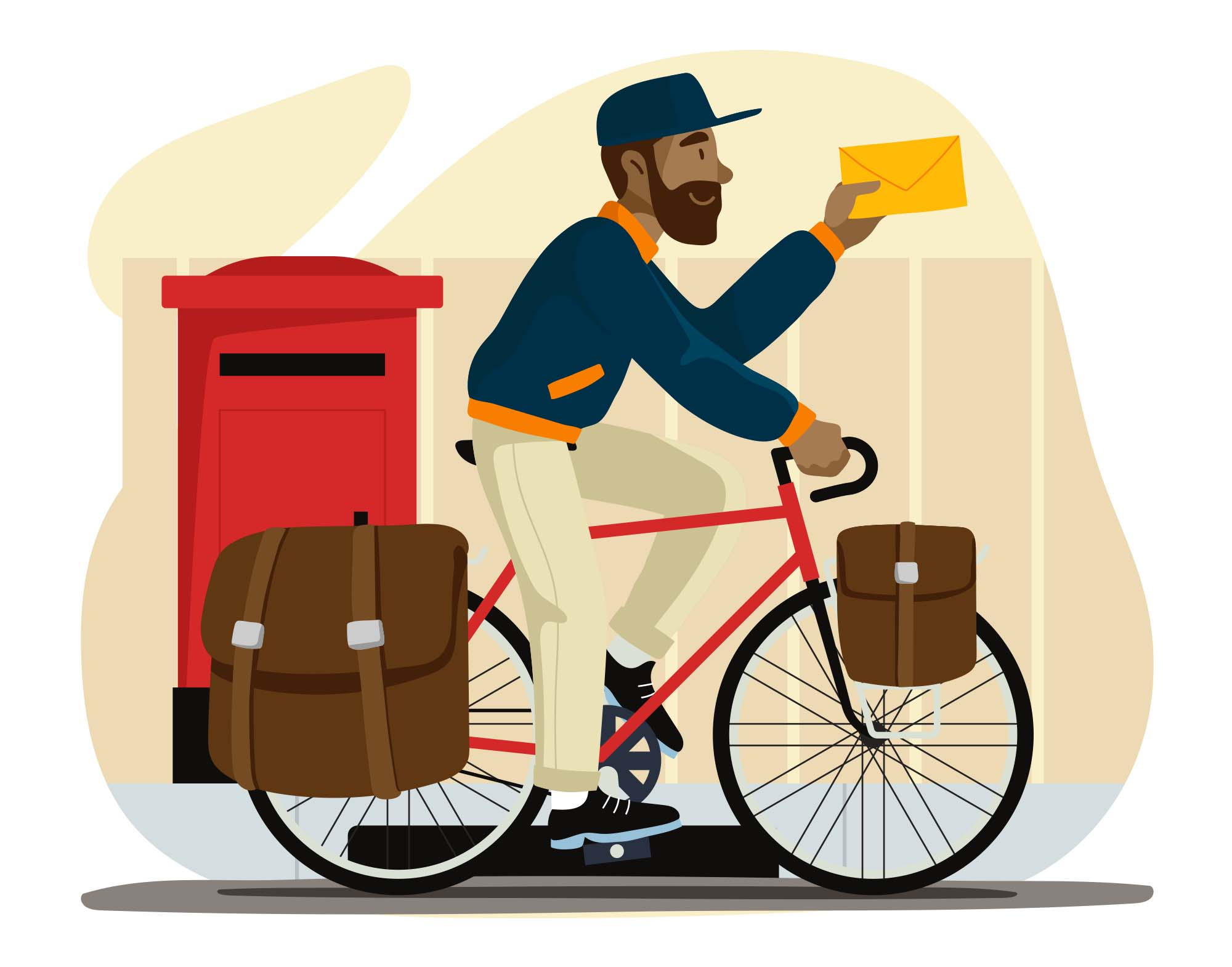 Mail Man Vector Illustration