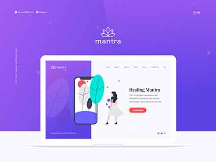 Mantra Yoga Minimal UI Kit