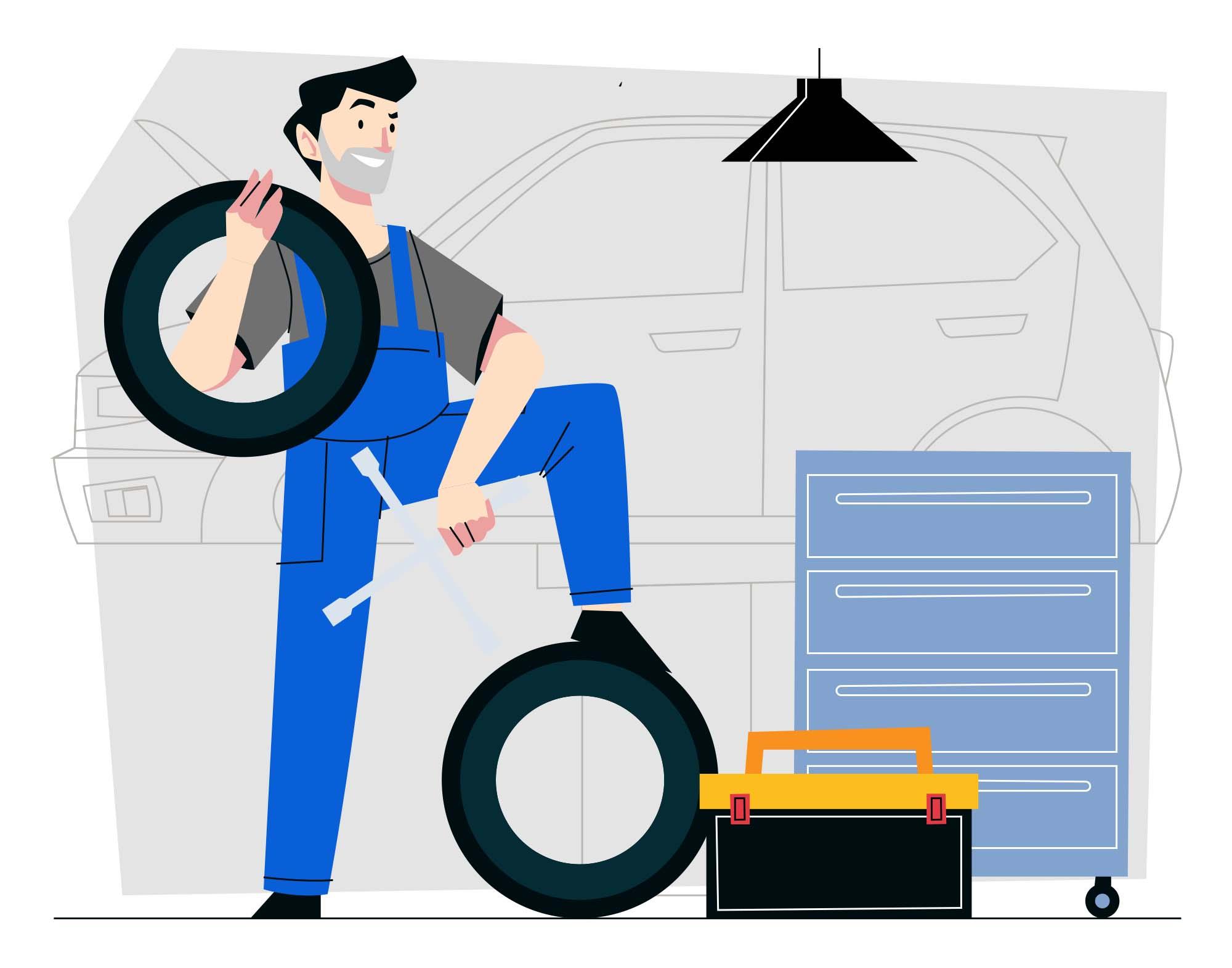 Mechanic Vector Illustration