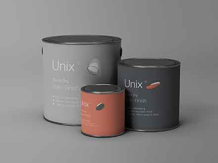 Metal Paint Buckets Mockup