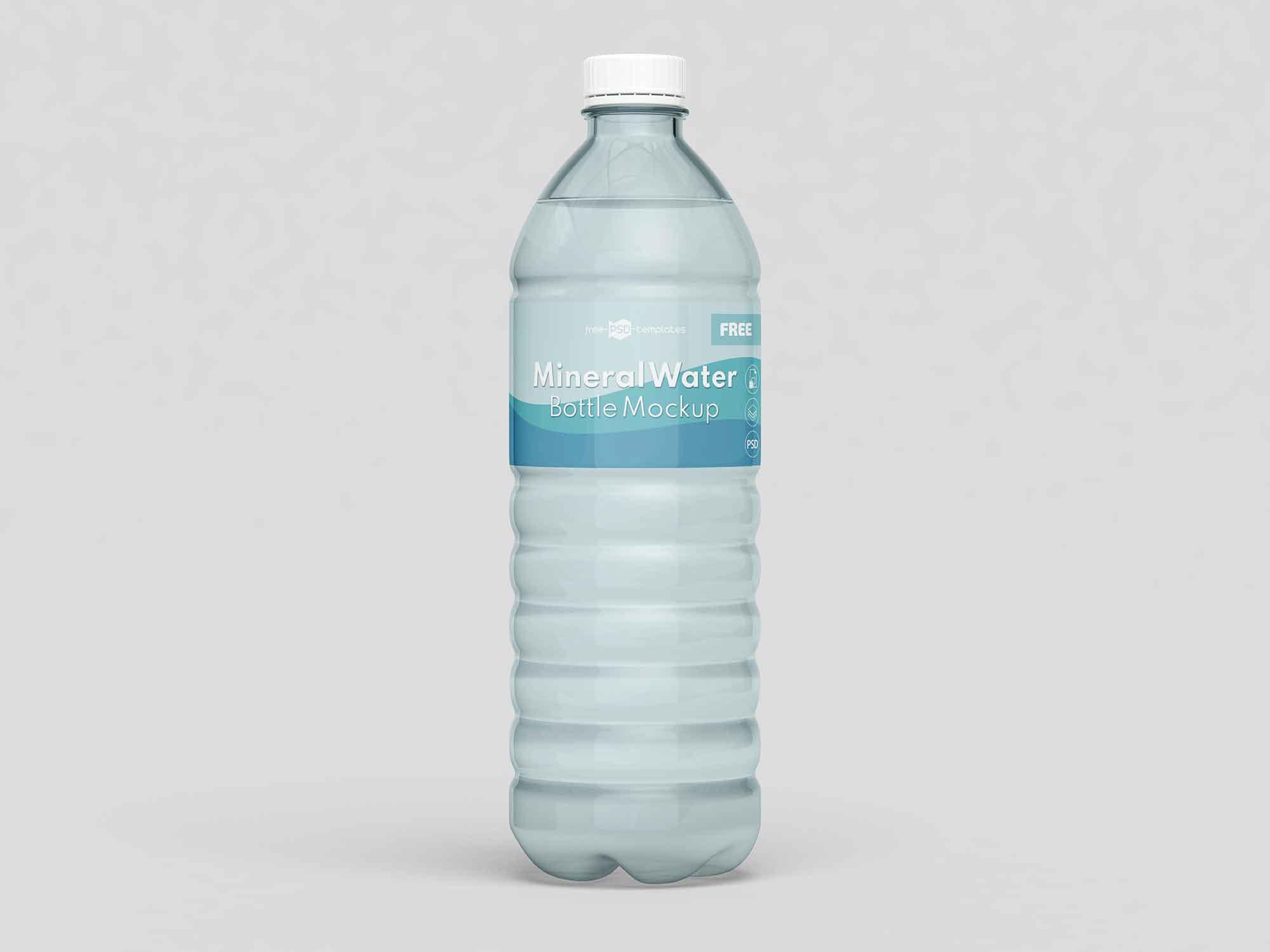 Mineral Water Bottles Mockup 1