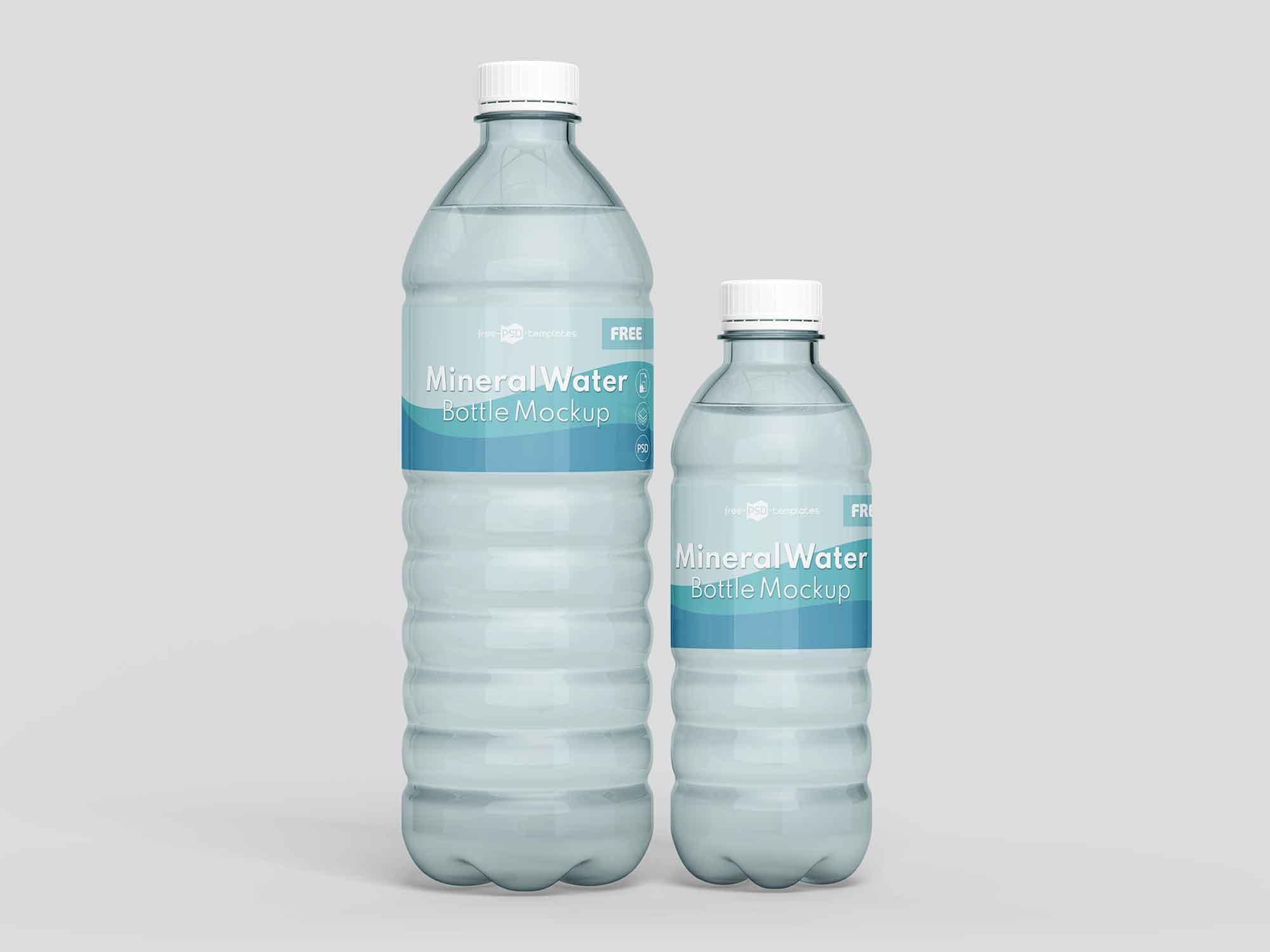 Mineral Water Bottles Mockup