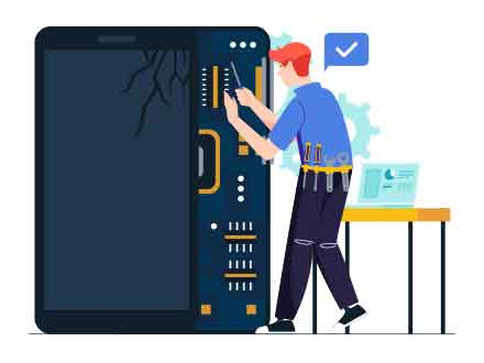 Mobile Fix Vector Illustration