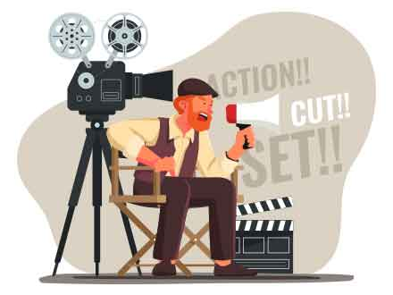 Movie Director Vector Illustration