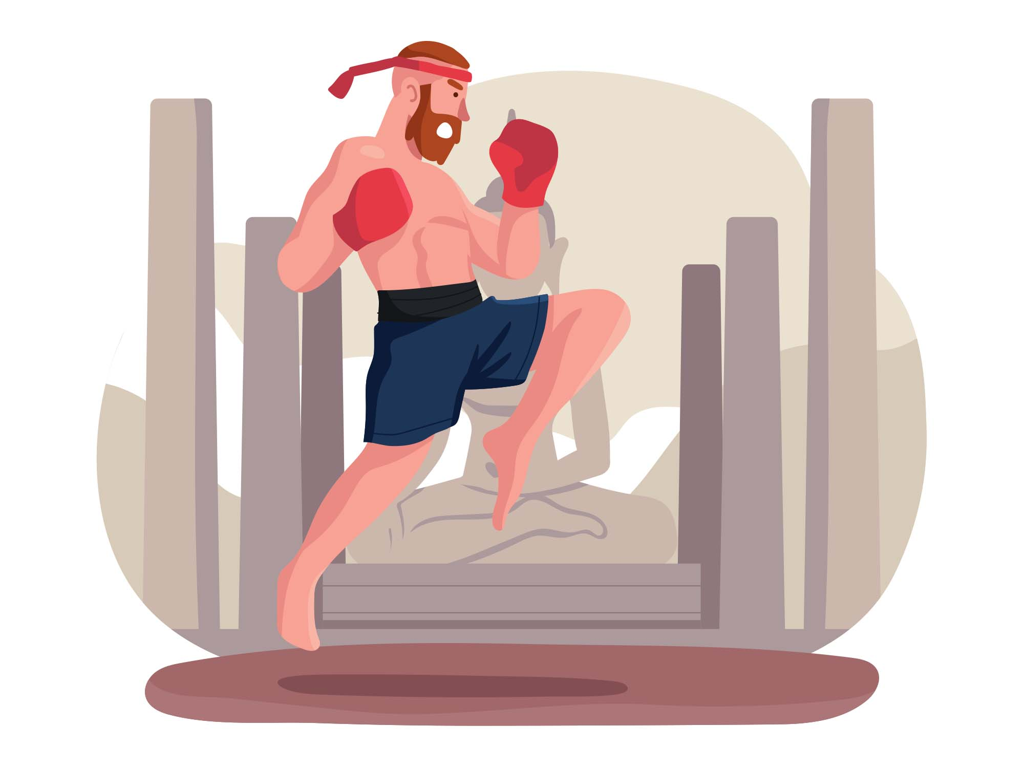 Muay Thai Vector Illustration