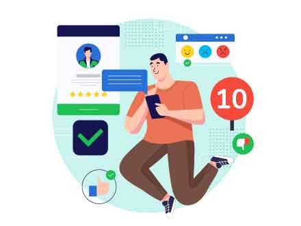 Online Feedback Vector Illustration