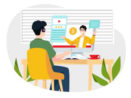 Online Learning Vector Illustration