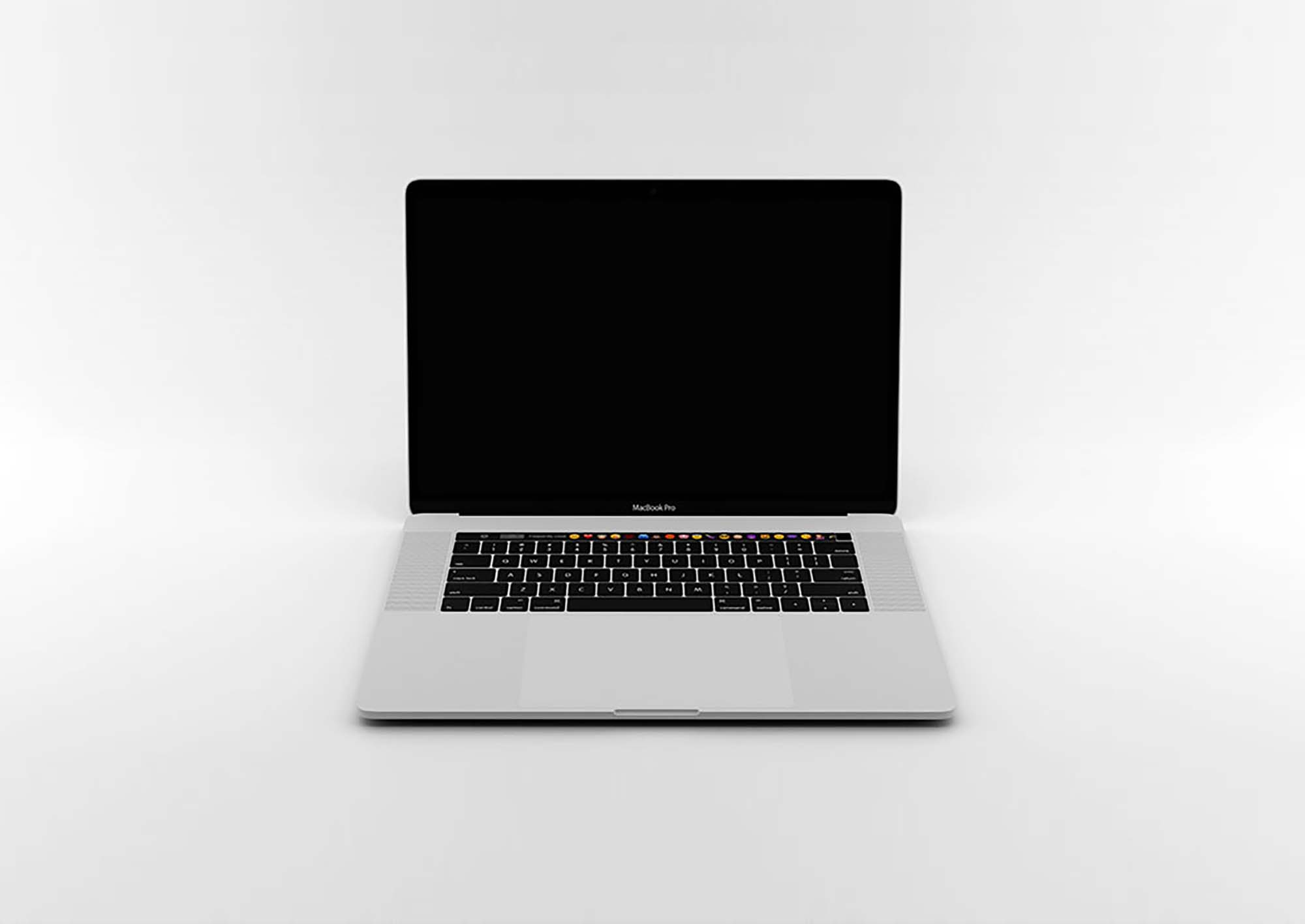 Opened MacBook Pro Mockup 2