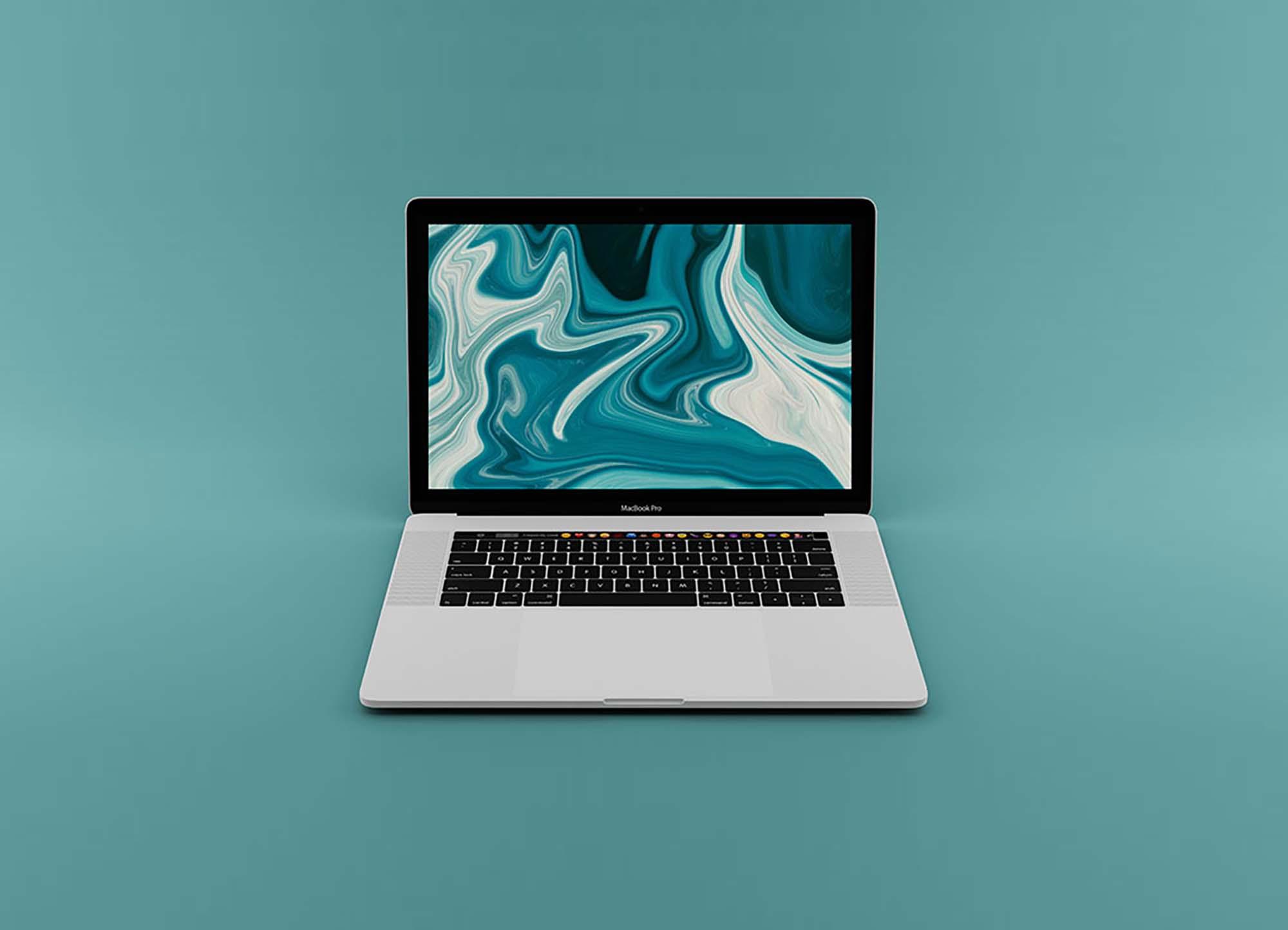 Opened MacBook Pro Mockup