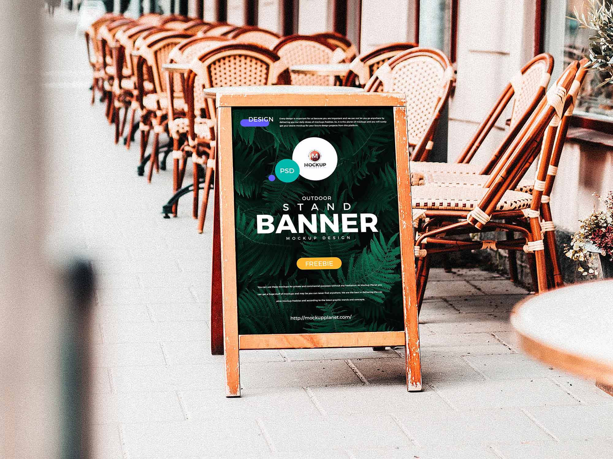 Outdoor Stand Banner Mockup