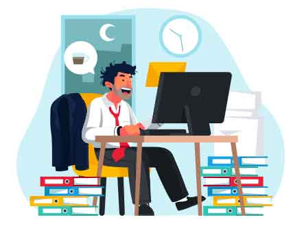 Overwork Vector Illustration