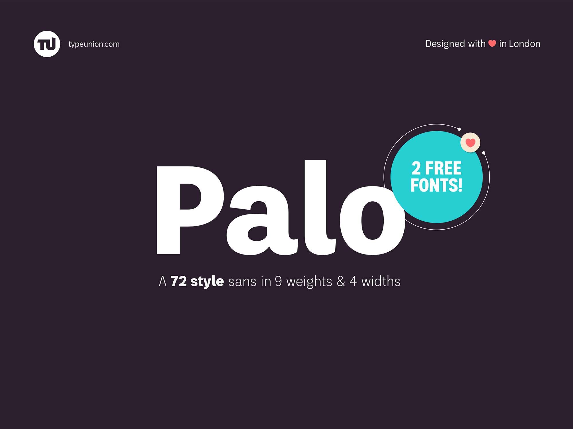Palo Sans Font