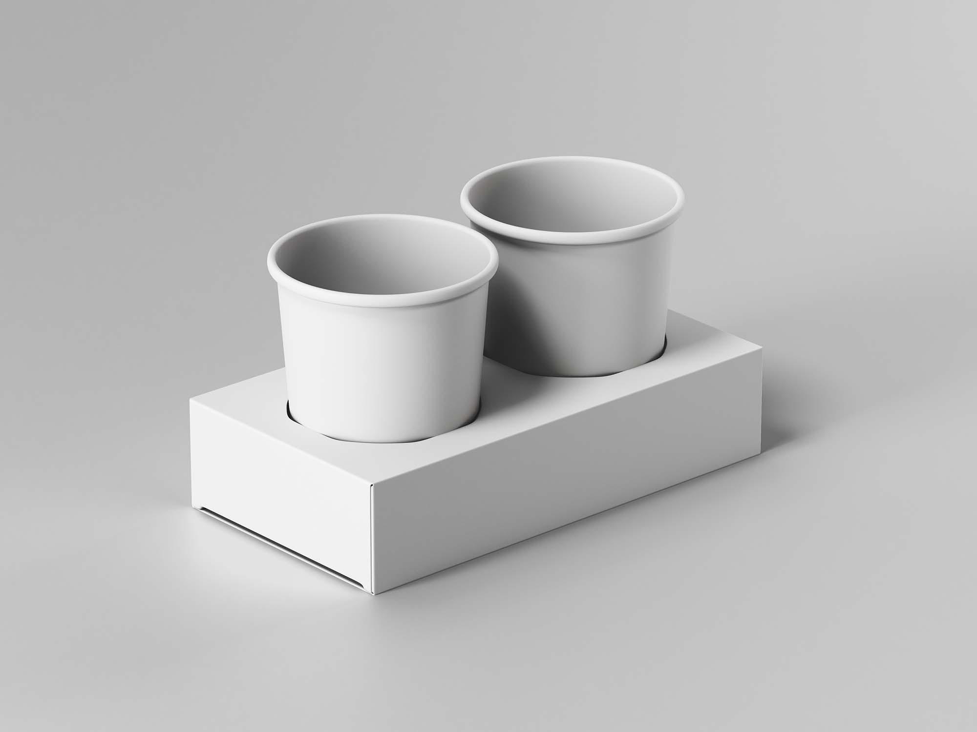 Paper Cup Holder Mockup 2