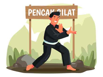 Pencak Silat Vector Illustration